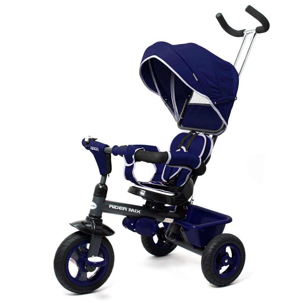 Dětská tříkolka Baby Mix RIDER 360° modrá