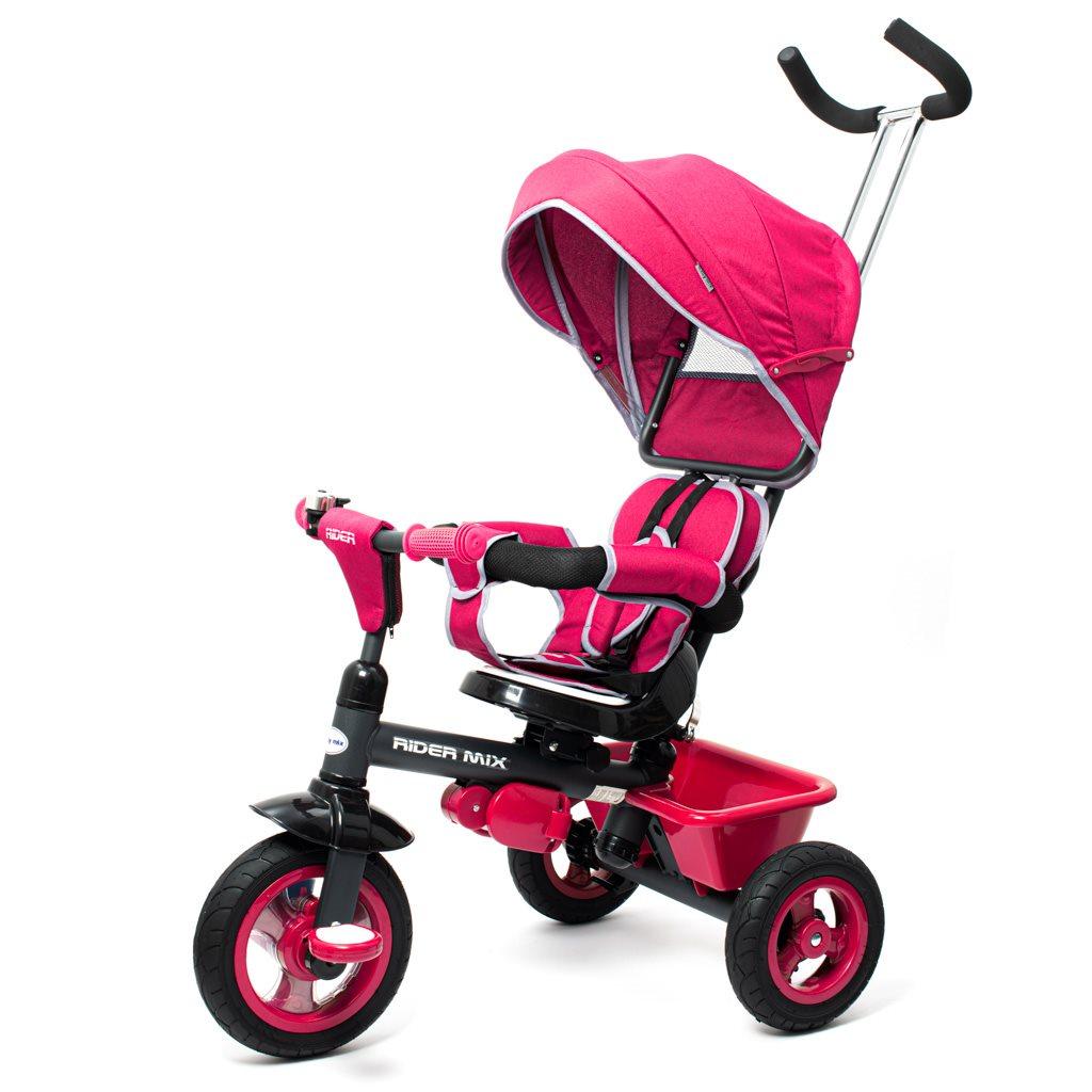 Dětská tříkolka Baby Mix RIDER 360° růžová