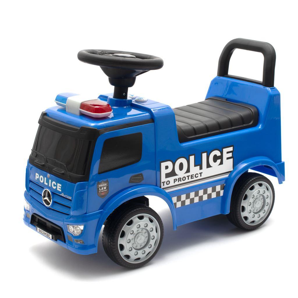 Dětské odrážedlo se zvukem Mercedes Baby Mix POLICE modré