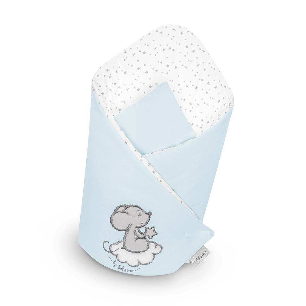 Zavinovačka s výztuží Belisima Cute Mouse tyrkysová