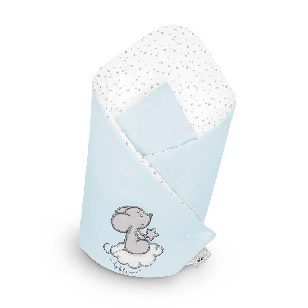 Zavinovačka Belisima Cute Mouse tyrkysová