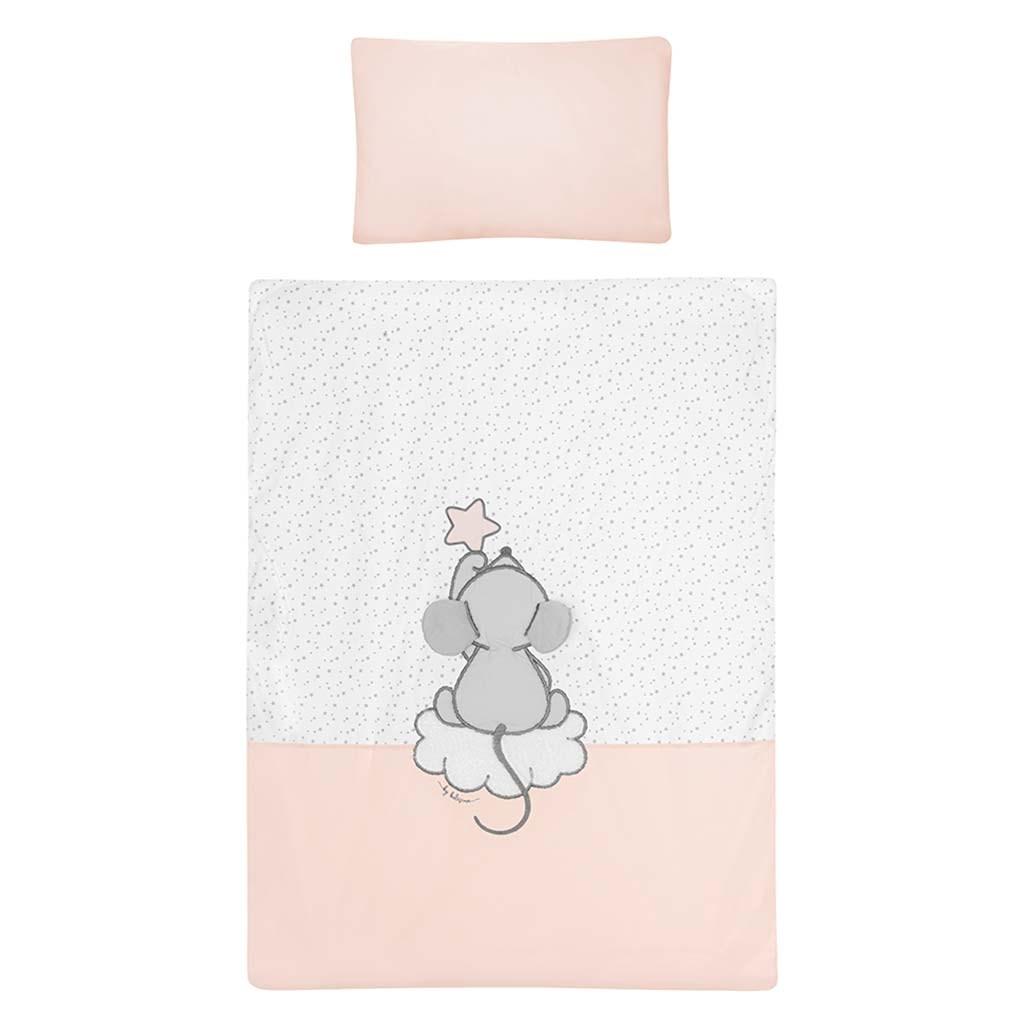 5-dílné ložní povlečení Belisima Cute Mouse 100/135 růžové