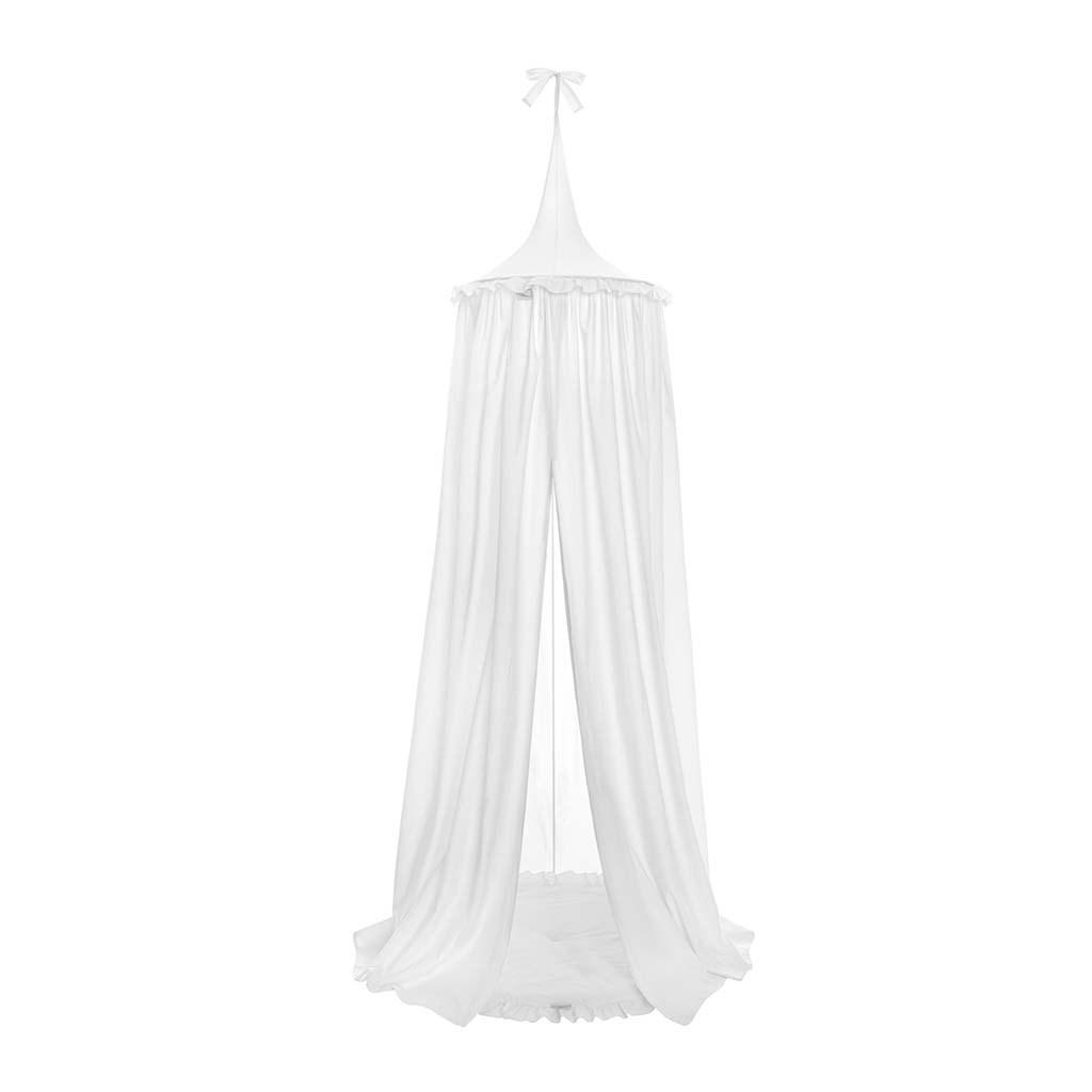 Závěsný stropní luxusní baldachýn-nebesa + podložka Belisima bílá