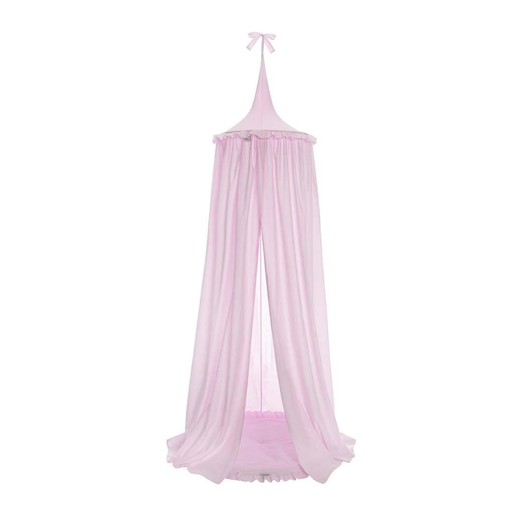 Závěsný stropní luxusní baldachýn-nebesa + podložka Belisima růžová