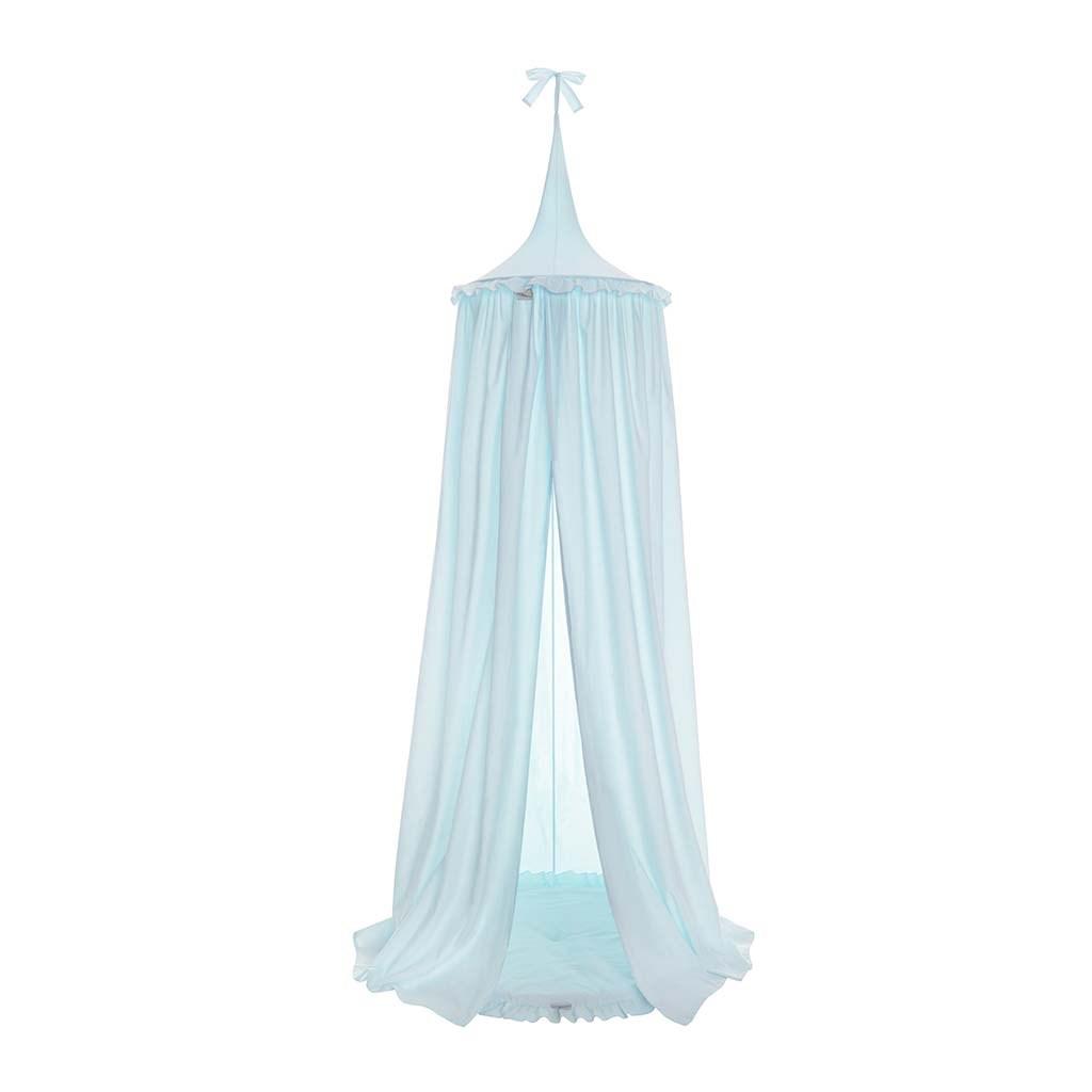 Závěsný stropní luxusní baldachýn-nebesa + podložka Belisima tyrkysová