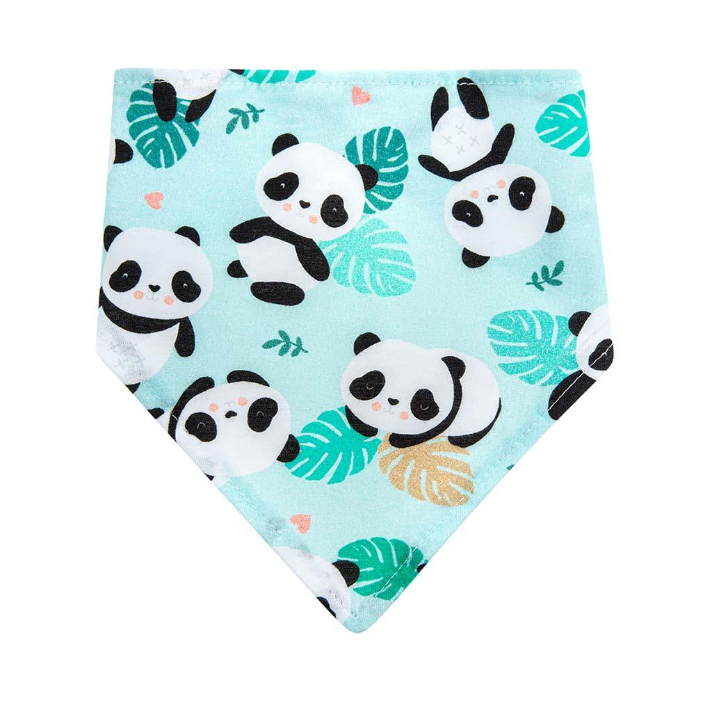 Kojenecký šátek na krk bryndáček Akuku Pandy