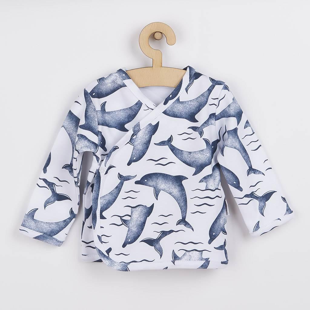 Kojenecká bavlněná košilka Nicol Dolphin