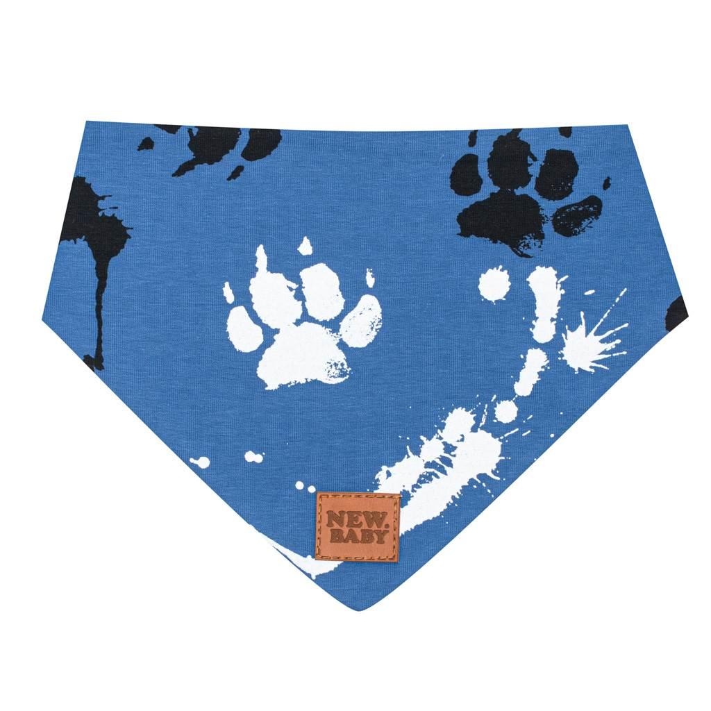 Kojenecký bavlněný šátek na krk New Baby Paw modrý M, Velikost: M