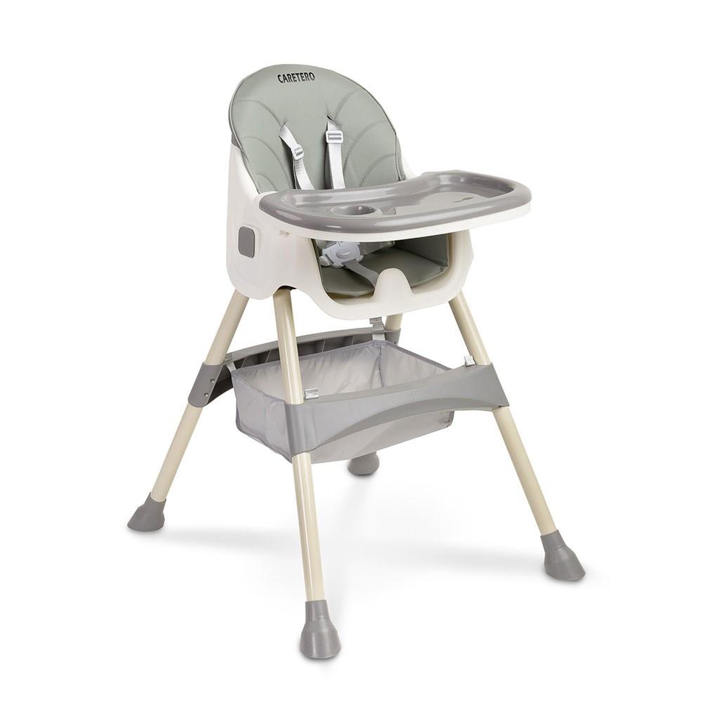 Jídelní židlička 2v1 CARETERO Bill grey