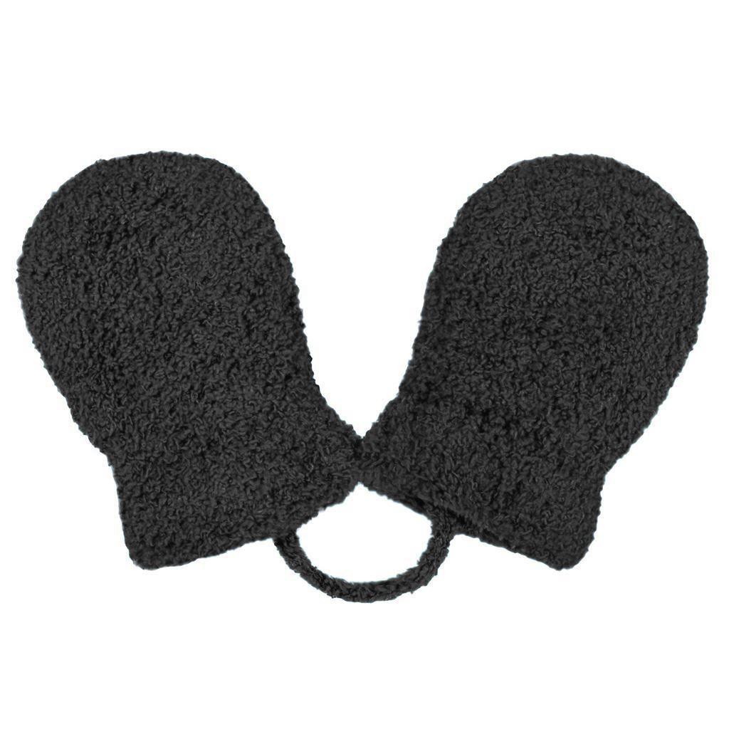Dětské zimní rukavičky New Baby se šňůrkou černé