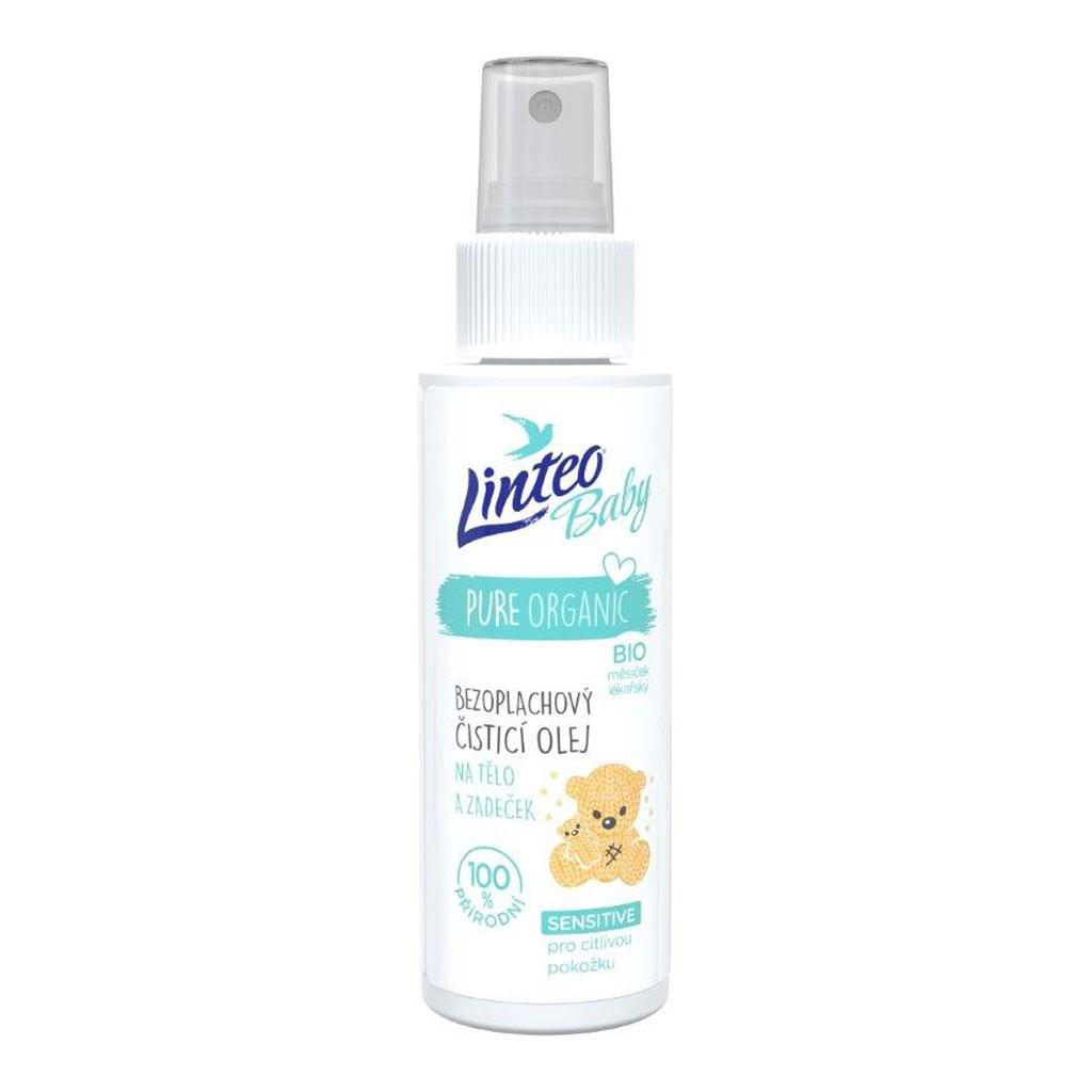 Dětský bezoplachový čistící olej na tělo a zadaček Linteo Baby 100 ml