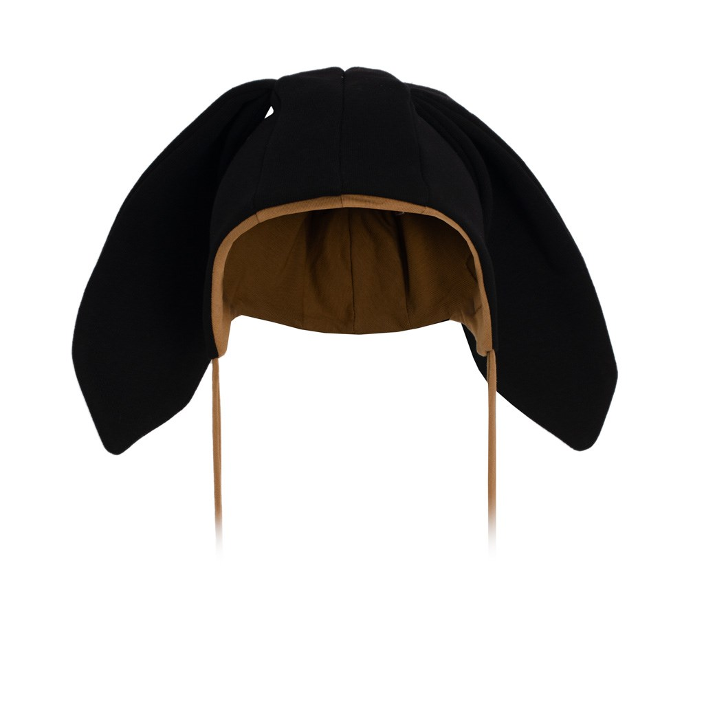 Kojenecká bavlněná čepička s oušky New Baby Favorite černá, Velikost: 86 (12-18m)