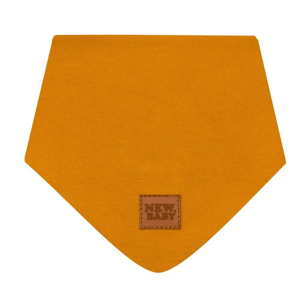 Kojenecký bavlněný šátek na krk New Baby Favorite hnědý S, Velikost: S
