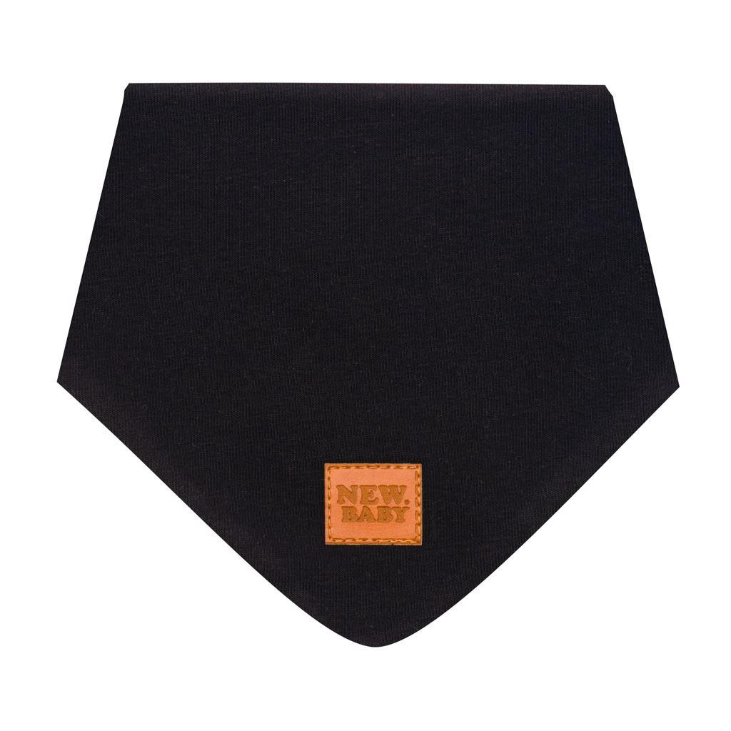 Kojenecký bavlněný šátek na krk New Baby Favorite černý S, Velikost: S