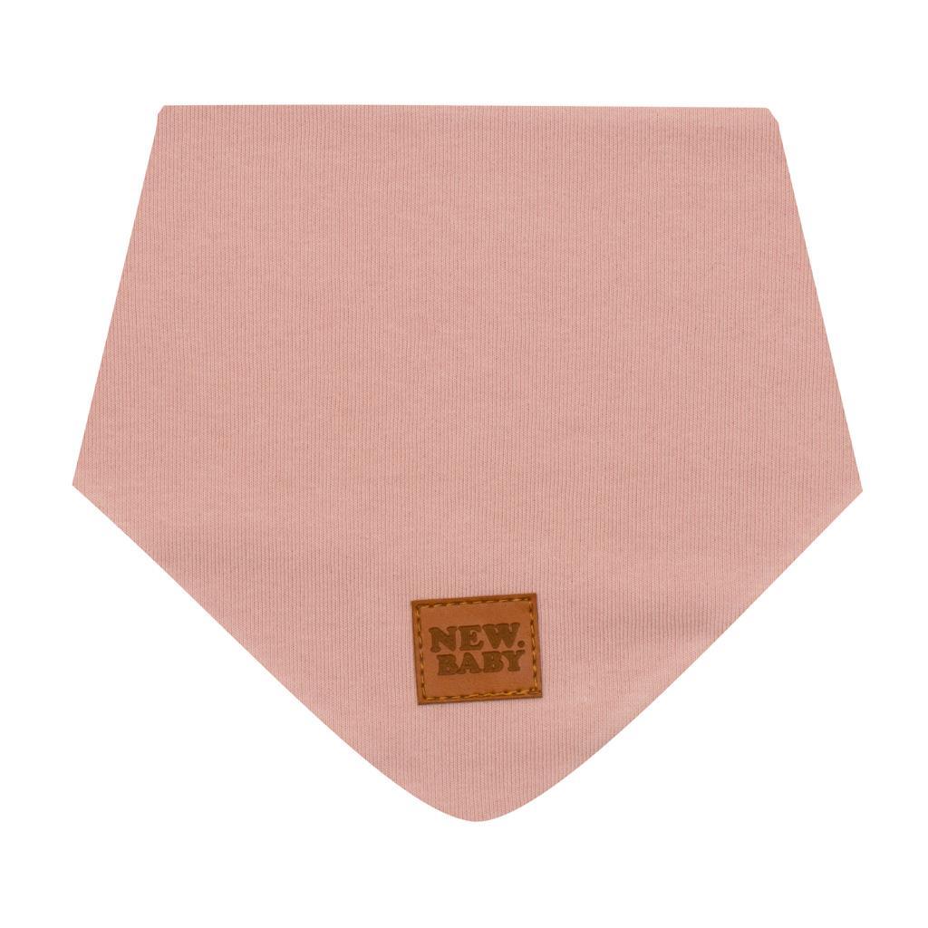 Kojenecký bavlněný šátek na krk New Baby Favorite růžový S, Velikost: S