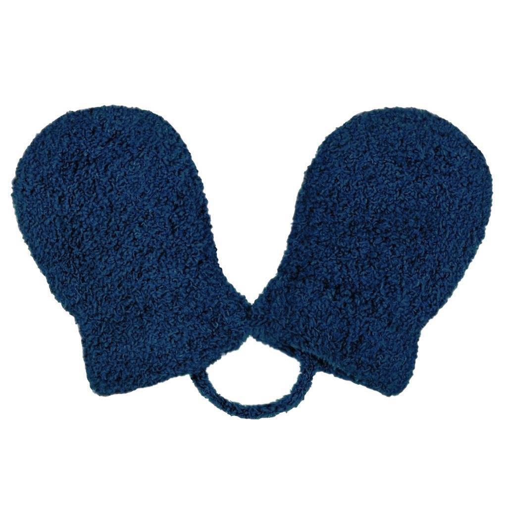 Dětské zimní rukavičky New Baby se šňůrkou tmavě modré