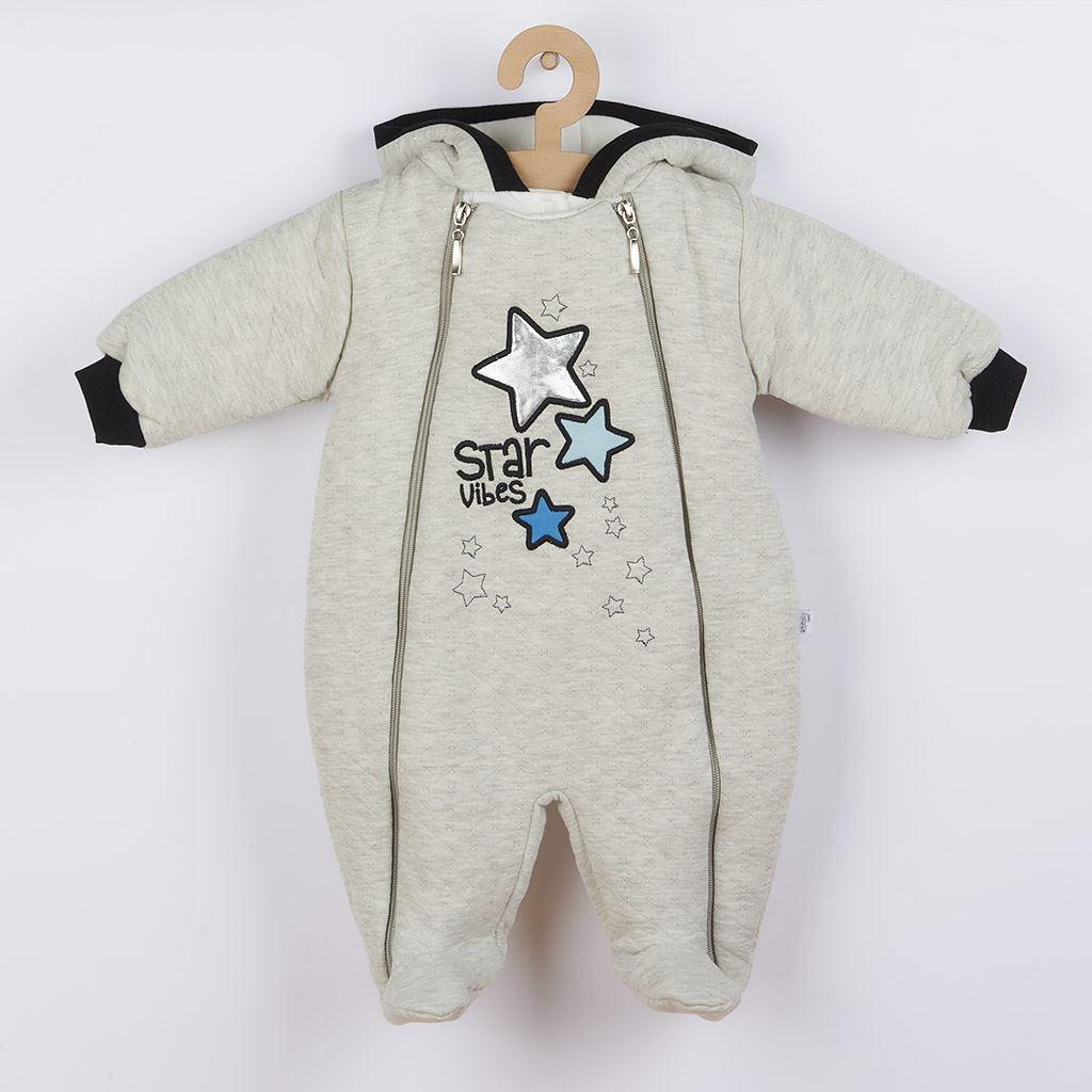 Zimní kojenecká kombinéza s kapucí Koala Star Vibes modrá vel. 56 (0-3m)