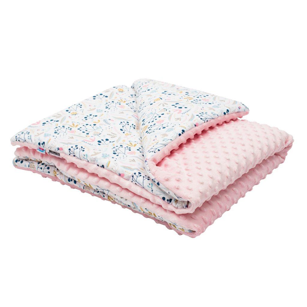 Dětská deka z Minky s výplní New Baby Jeřabiny 80x102 cm