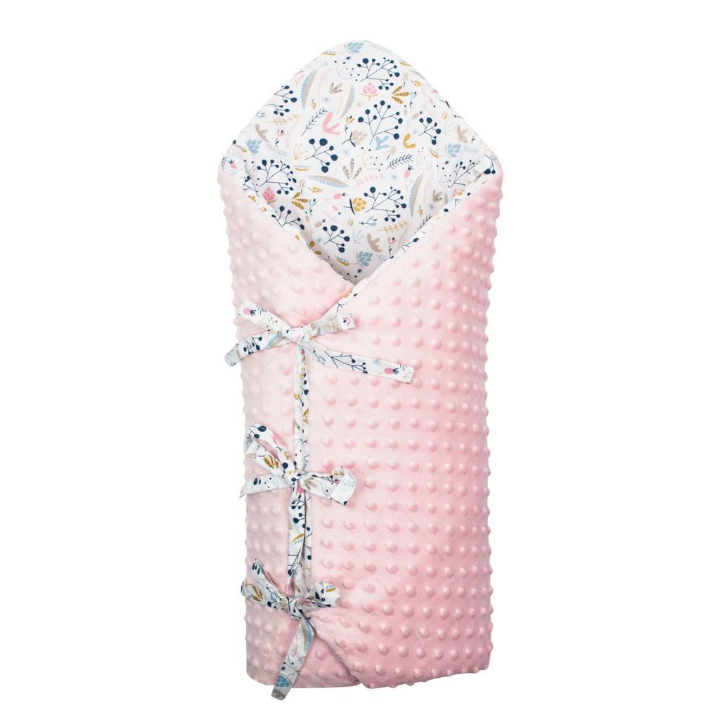Luxusní šněrovací zavinovačka z Minky New Baby Jeřabiny 75x75 cm