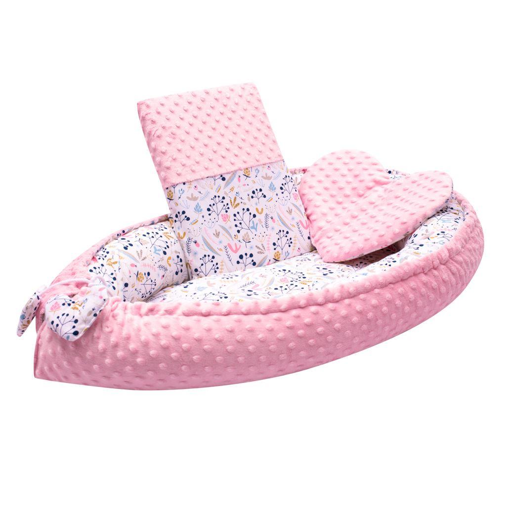 Luxusní hnízdečko s polštářkem a peřinkou New Baby z Minky Jeřabiny