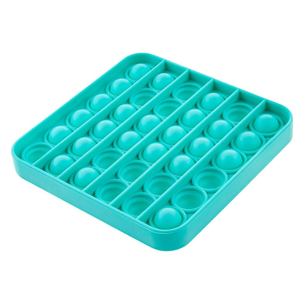 Senzorická hračka Práskací bubliny Push Pop Akuku čtverec zelený