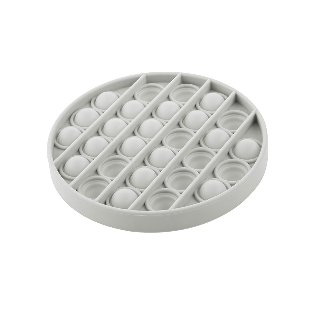 Senzorická hračka Práskací bubliny Push Pop Akuku kruh šedý