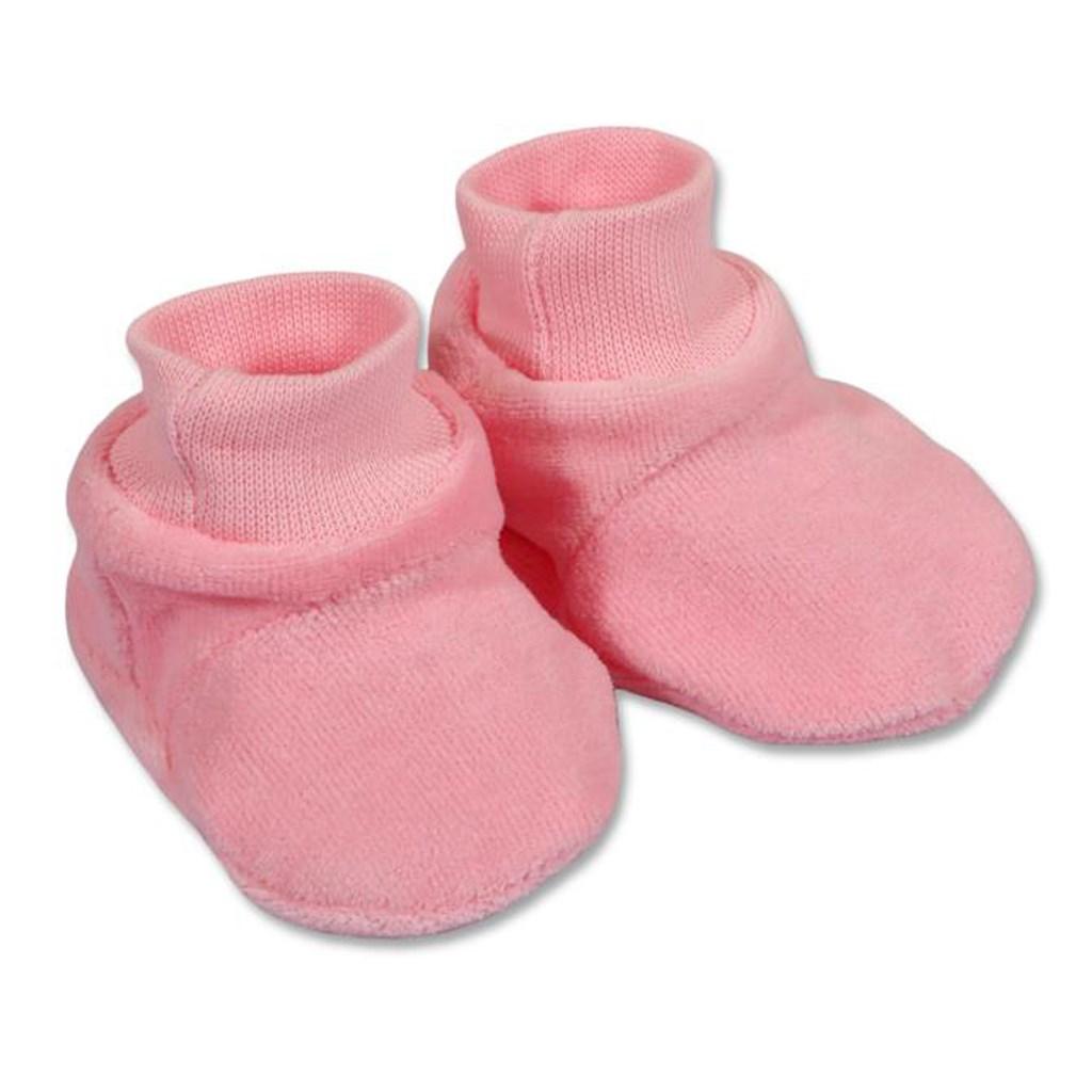 Dětské bačkůrky New Baby růžové vel. 62 (3-6m)