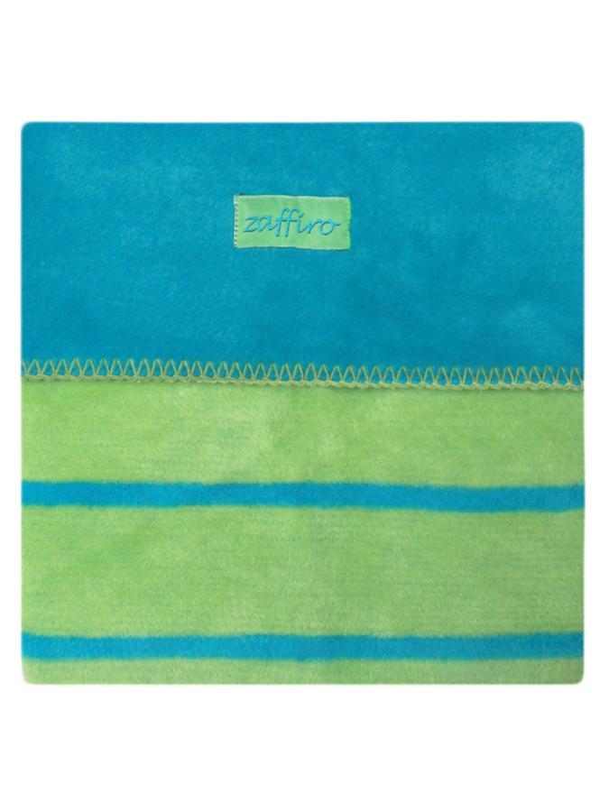 Dětská bavlněná deka Womar 75x100 modro-zelená