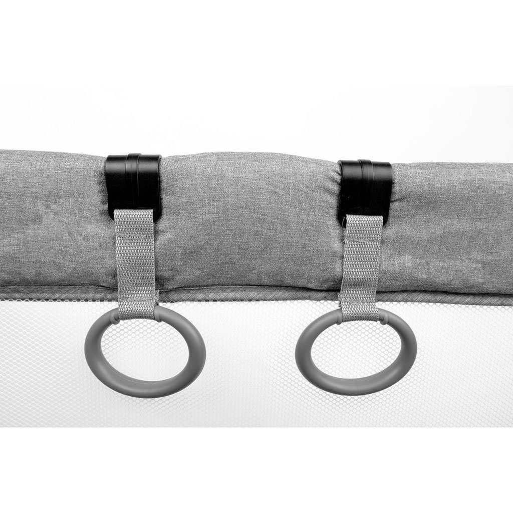 Dětská skládací ohrádka CARETERO Quadra grey
