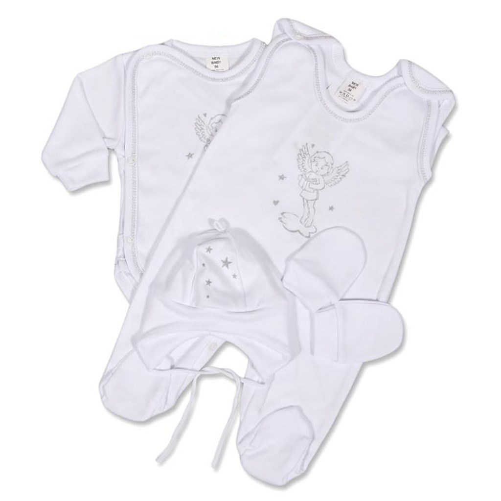 4-dílná soupravička New Baby andílek, Velikost: 68 (4-6m)
