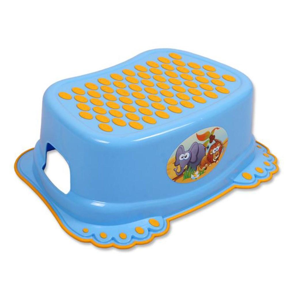 Dětské protiskluzové stupátko do koupelny modré tlapky