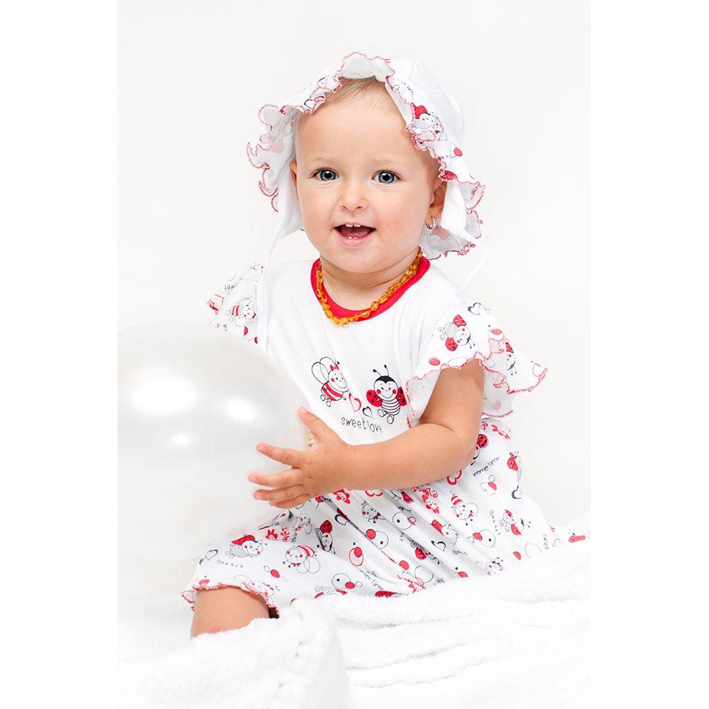 Dětská čepička New Baby Beruška, Velikost: 74 (6-9m)