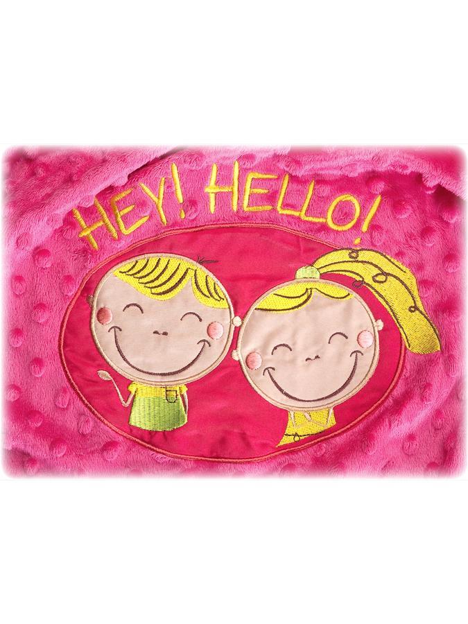Dětská oboustranná deka Sensillo Hey Hello 75x100 cm rose