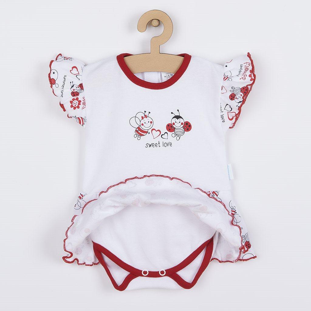 Kojenecké body s krátkým rukávem a volánkem New Baby Beruška, Velikost: 62 (3-6m)