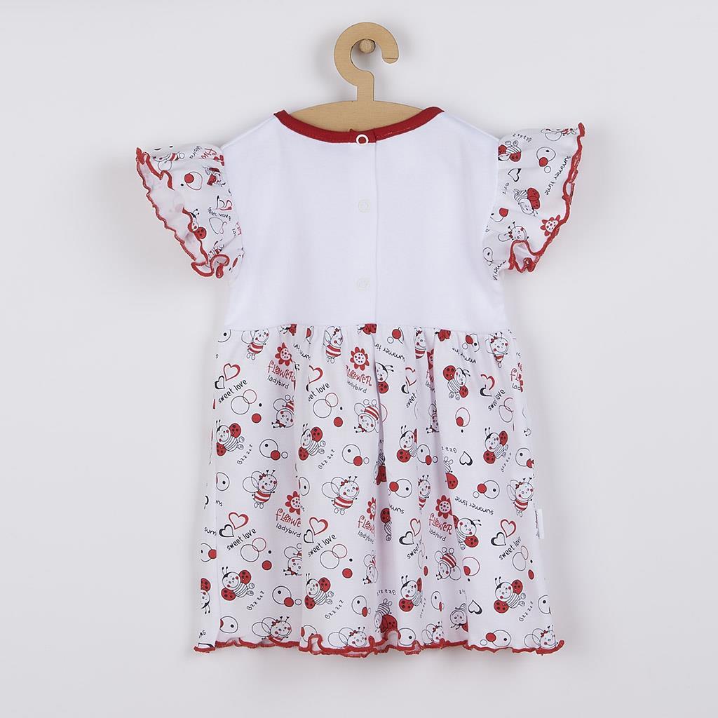 Kojenecké šaty New Baby Beruška, vel. 80 (9-12m)