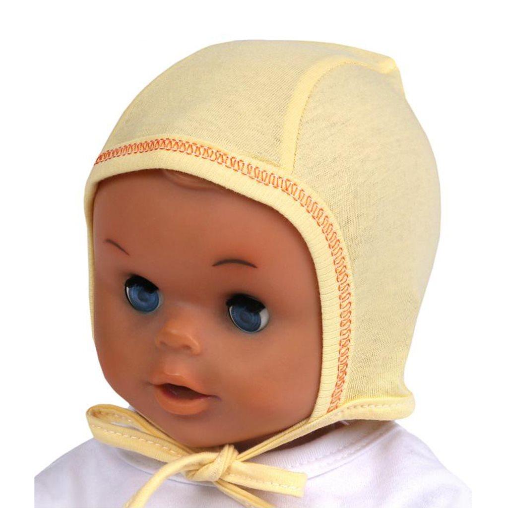 Kojenecká čepička New Baby žlutá vel. 56 (0-3m)