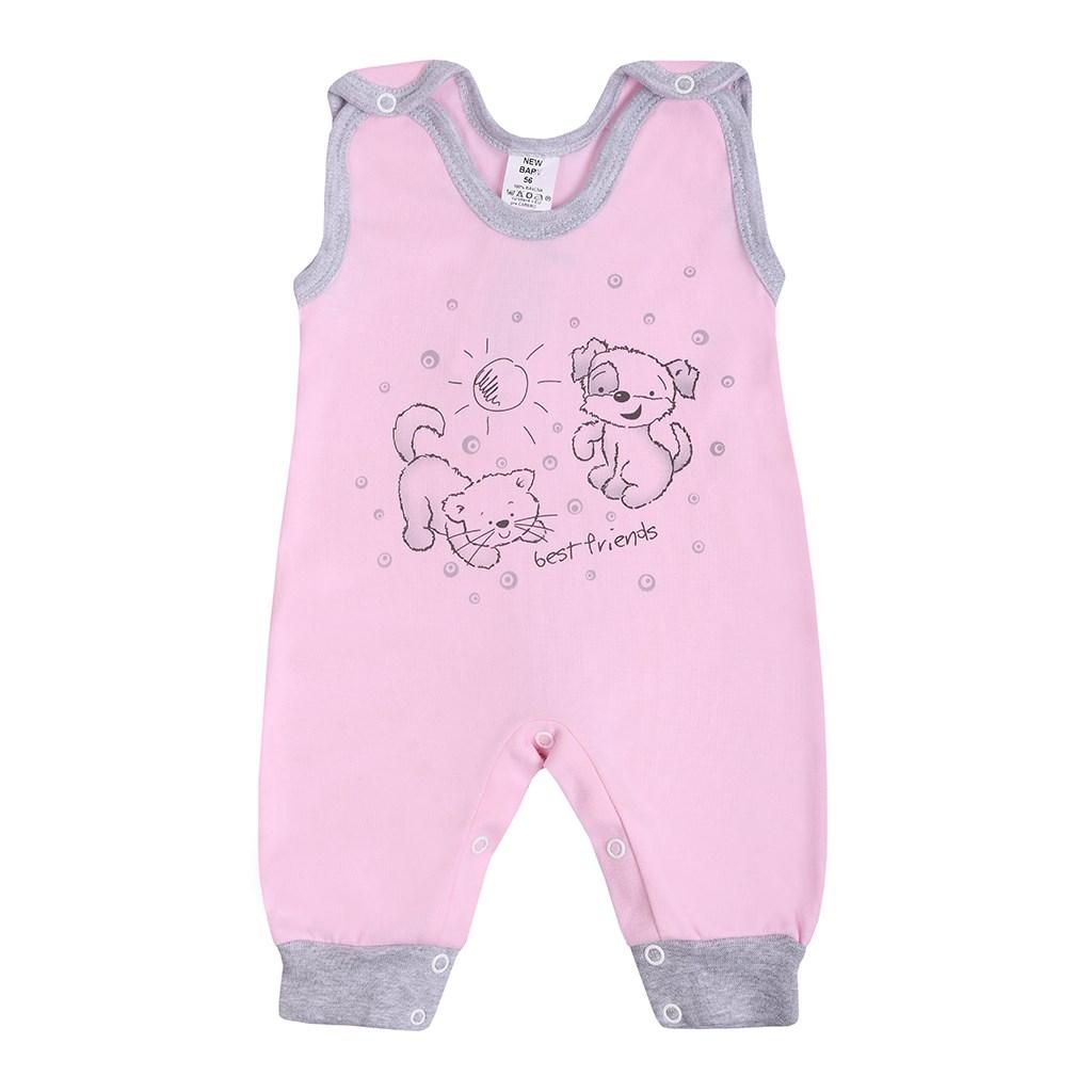 Kojenecké dupačky New Baby Kamarádi růžové, Velikost: 80 (9-12m)