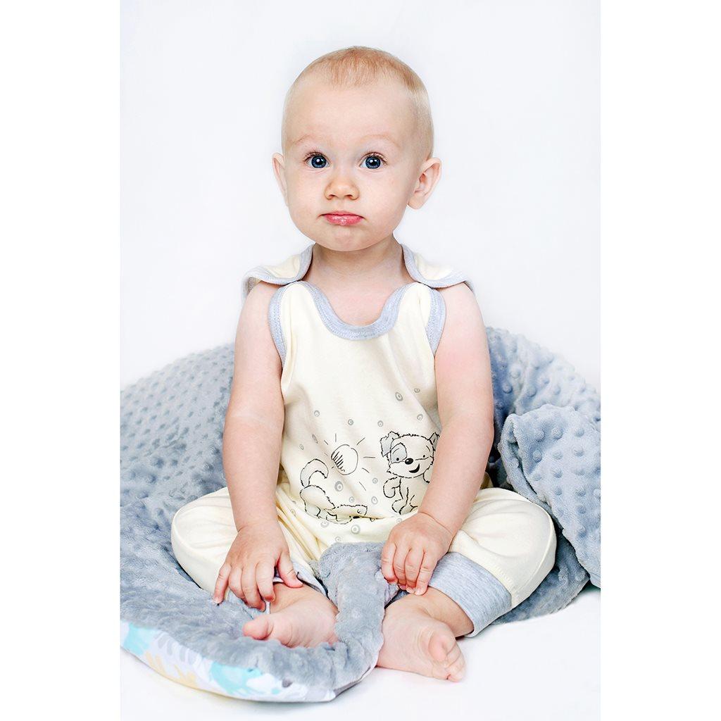 Kojenecké dupačky New Baby Kamarádi smetanové, Velikost: 86 (12-18m)