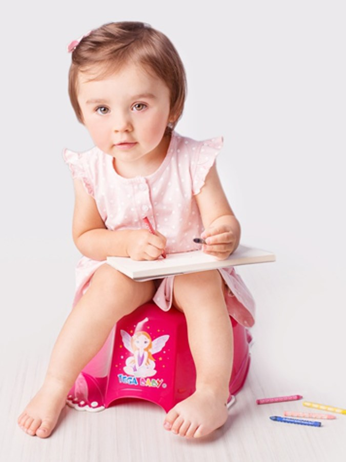 Hrající dětský nočník protiskluzový Malá Princezna bílý