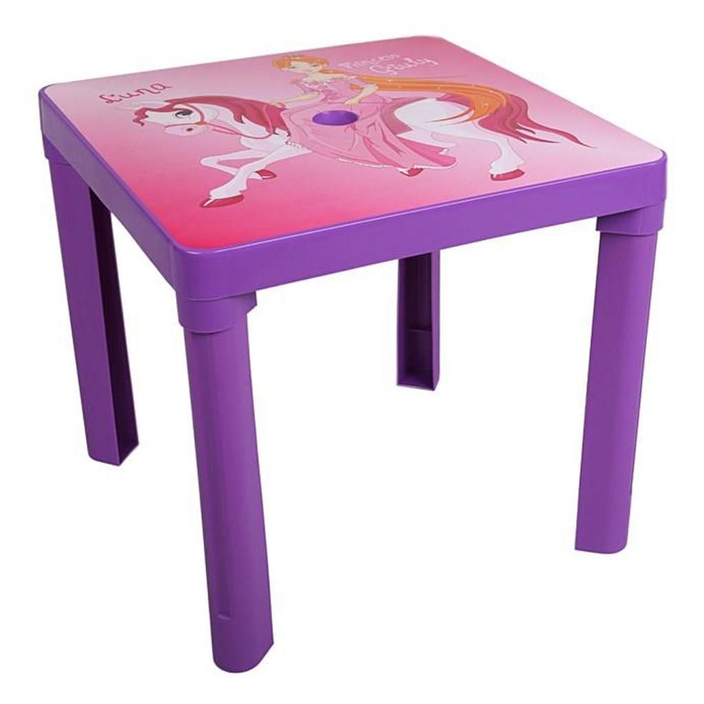 Dětský zahradní nábytek - Plastový stůl fialový