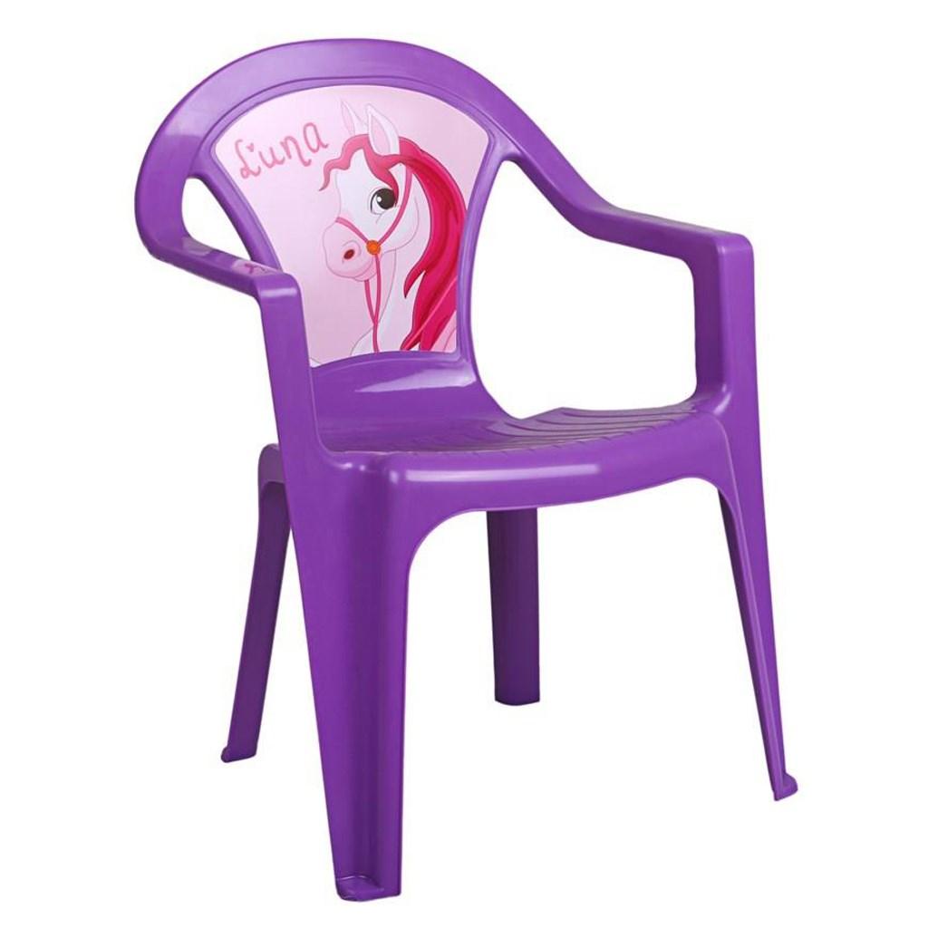 Dětský zahradní nábytek - Plastová židle fialová