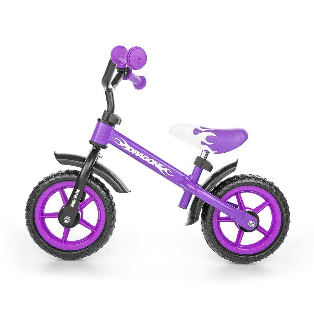 Dětské odrážedlo kolo Milly Mally Dragon purple