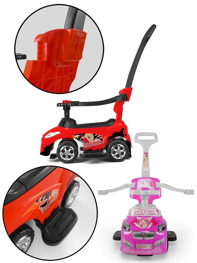 Dětské jezdítko 2v1 Milly Mally Happy pink