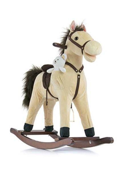 Houpací koník s melodií Milly Mally Mustang béžový