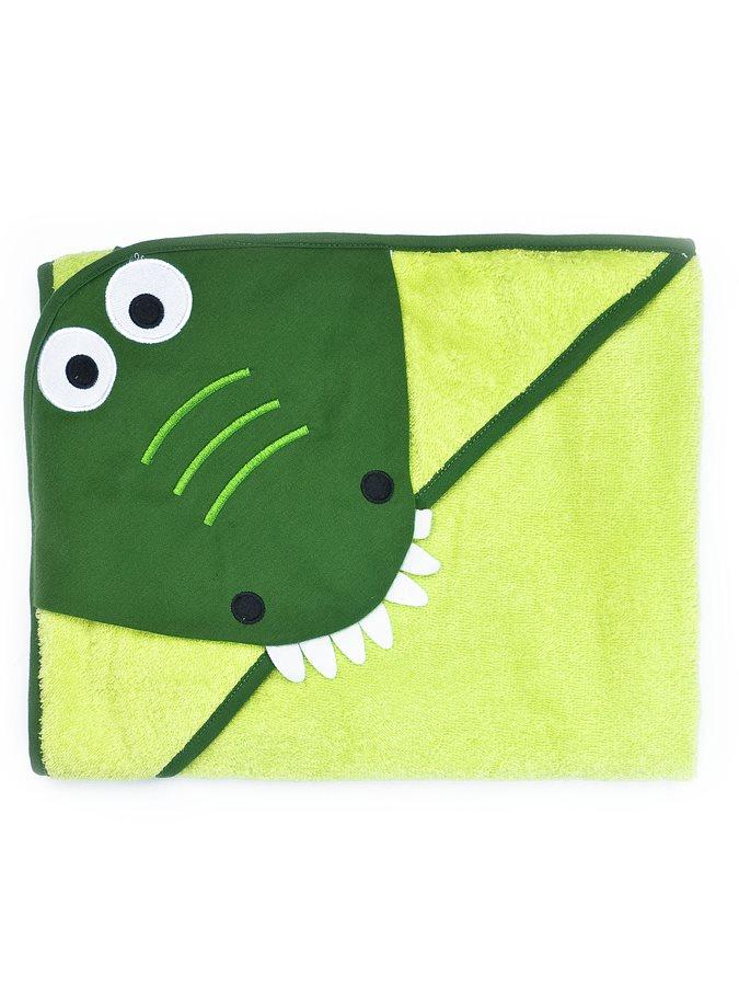 Dětská osuška Sensillo Water Friends 100x100 cm green crocodile