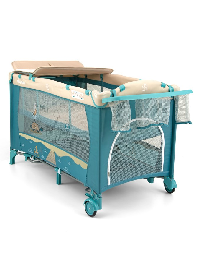 Cestovní postýlka Milly Mally Mirage Deluxe blue toys